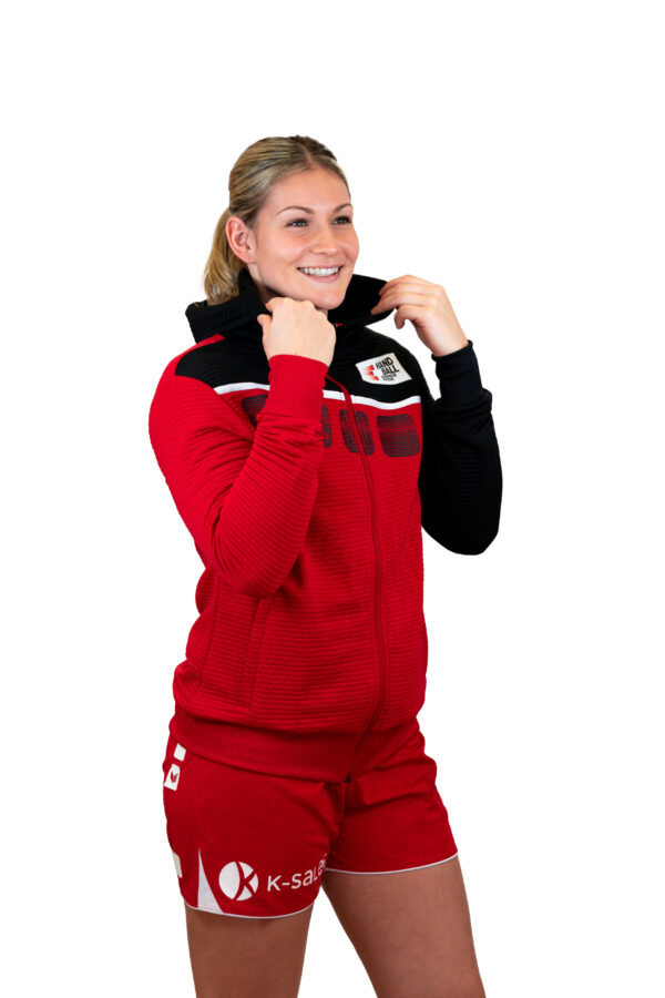Damen 5-C Trainingsjacke mit Kapuze